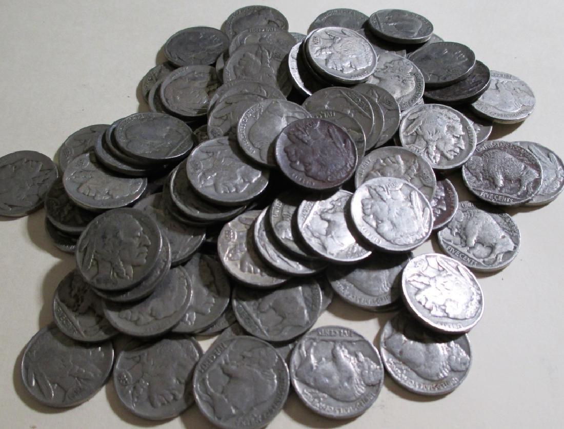 (100) Buffalo Nickels Various Dates and Grades - 2