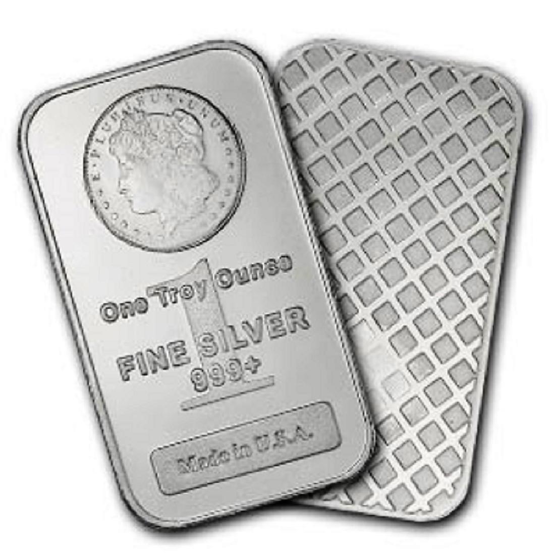 1 oz Morgan Design Silber Bar .999 Pure - 2