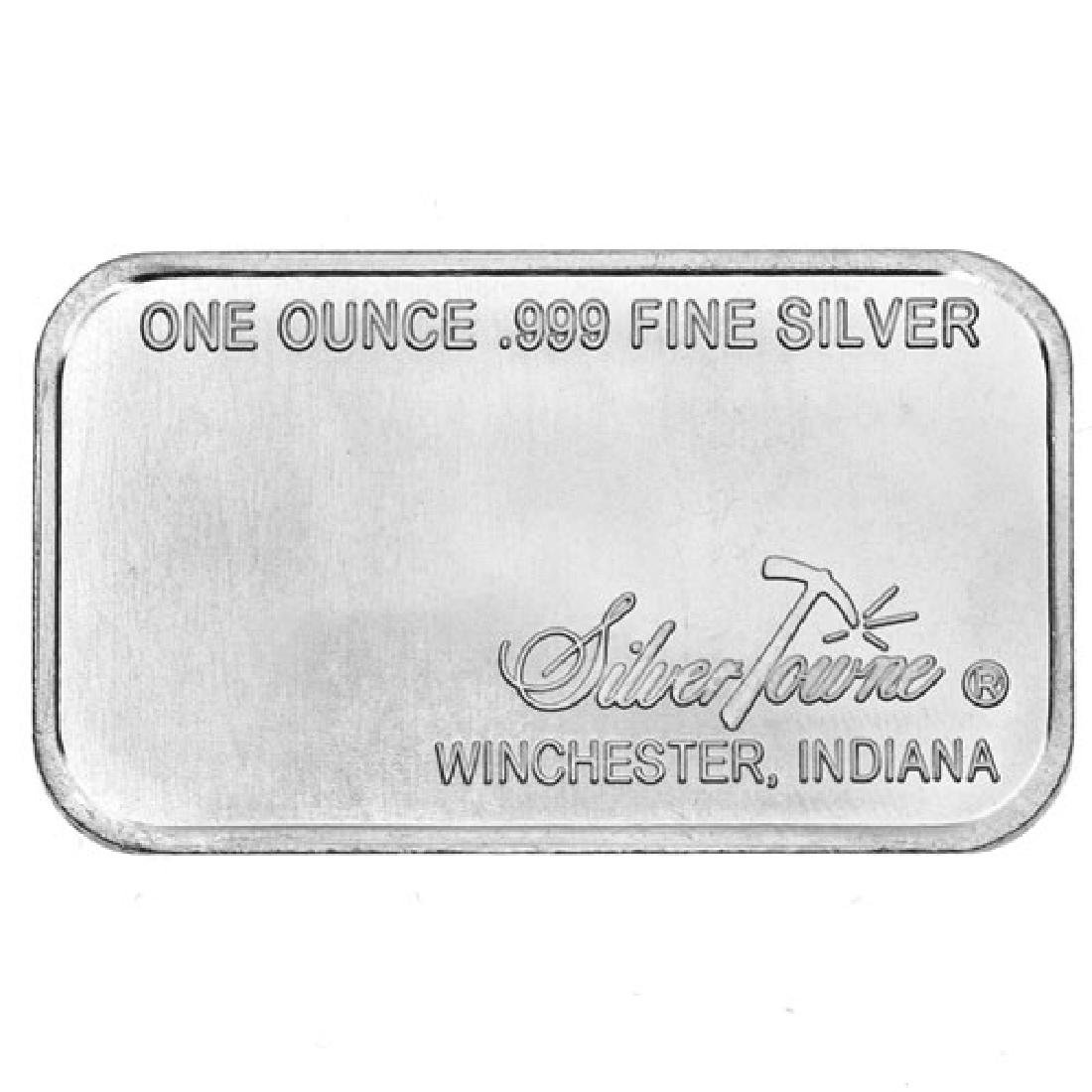 1 oz. Silvertown Prospector Bar .999 Pure - 2