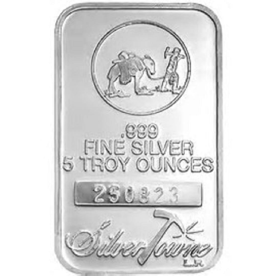 5 oz. Prospector Silver Bar - .999 pure