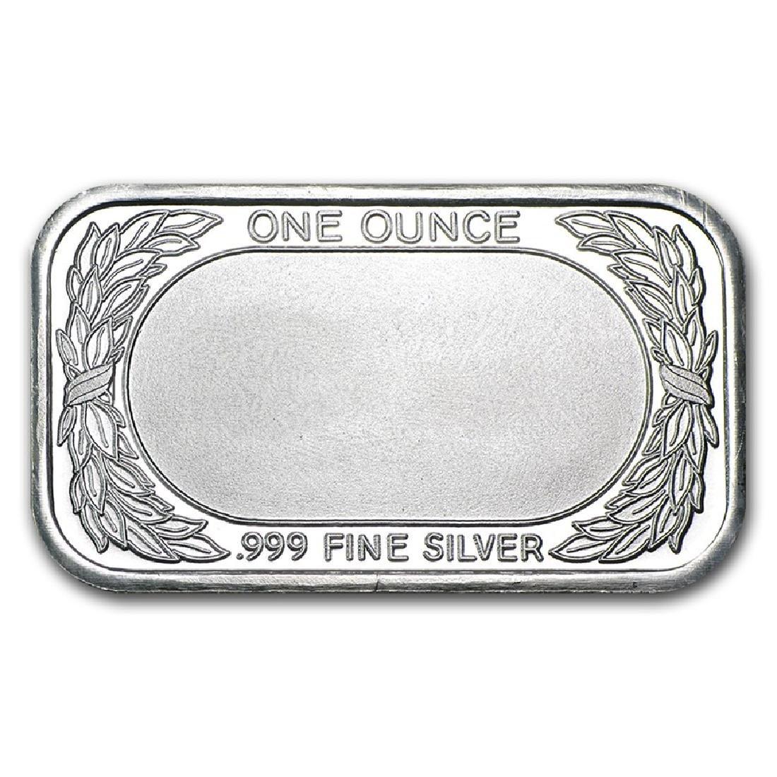 1 oz American Flag Design Silver Bar - 2