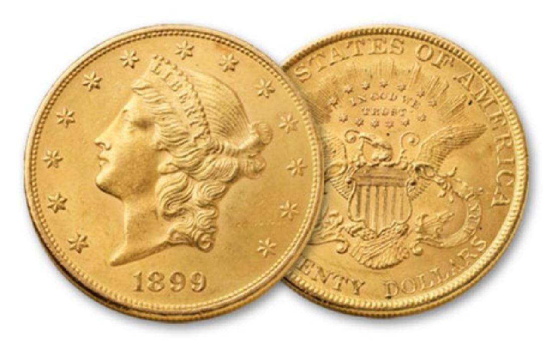 1899 P $20 Gold Liberty High Grade - 2
