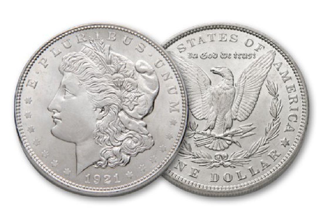 1921 BU Morgan Silver Dollar - 2