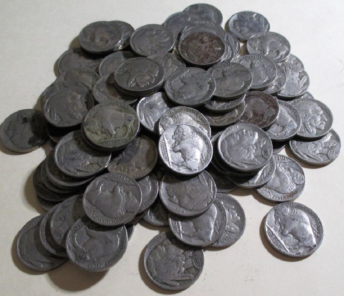 (50) Readable Date Buffalo Nickels - 2