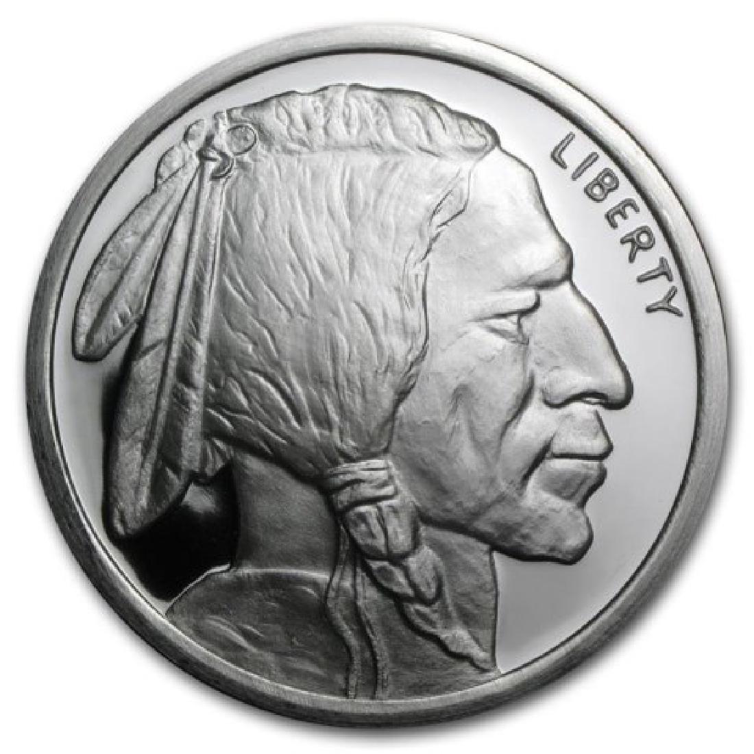 (10) Buffalo Design 1 oz. Silver Rounds .999 Pure - 2