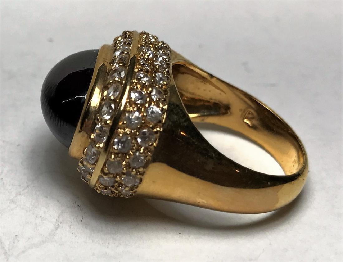 Amethyst Cabochon Gold Vermeil Ring - 3