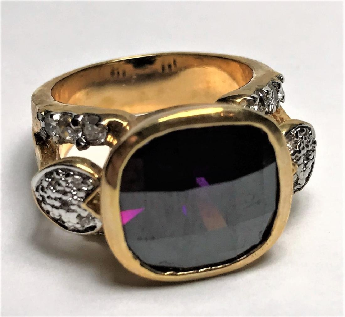 Natural Amethyst Gold Vermeil Ring