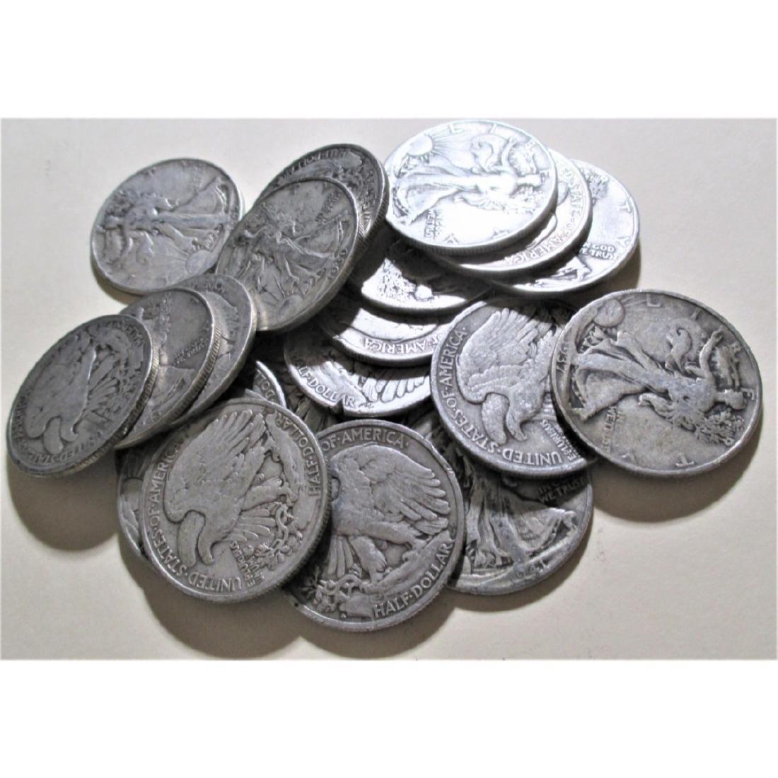(20) Walking Liberty Half Dollars - 90% Silver - 2