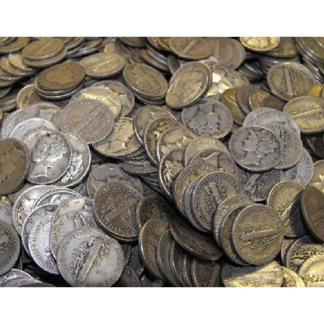 Lot of (300) Mercury Dimes -$30 Face -90% Silver - 2
