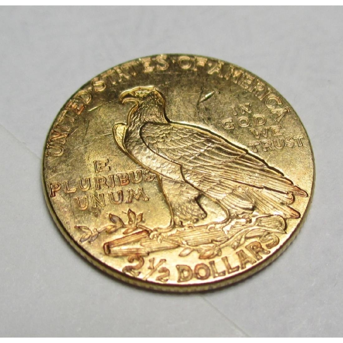 1927 $2.5 Gold Indian Quarter Eagle - 2