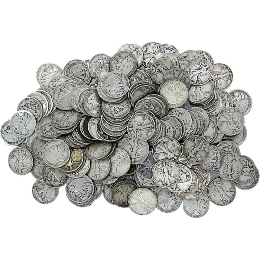 (50) Walking Liberty Half Dollars -90% Silver