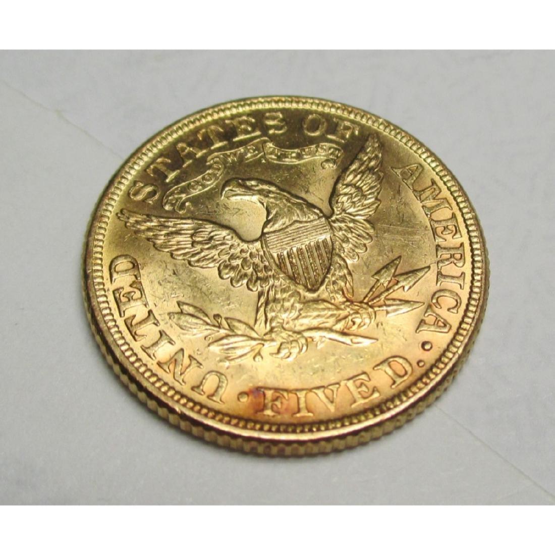 1881 P $5 FIVE Gold Liberty Half Eagle - 2