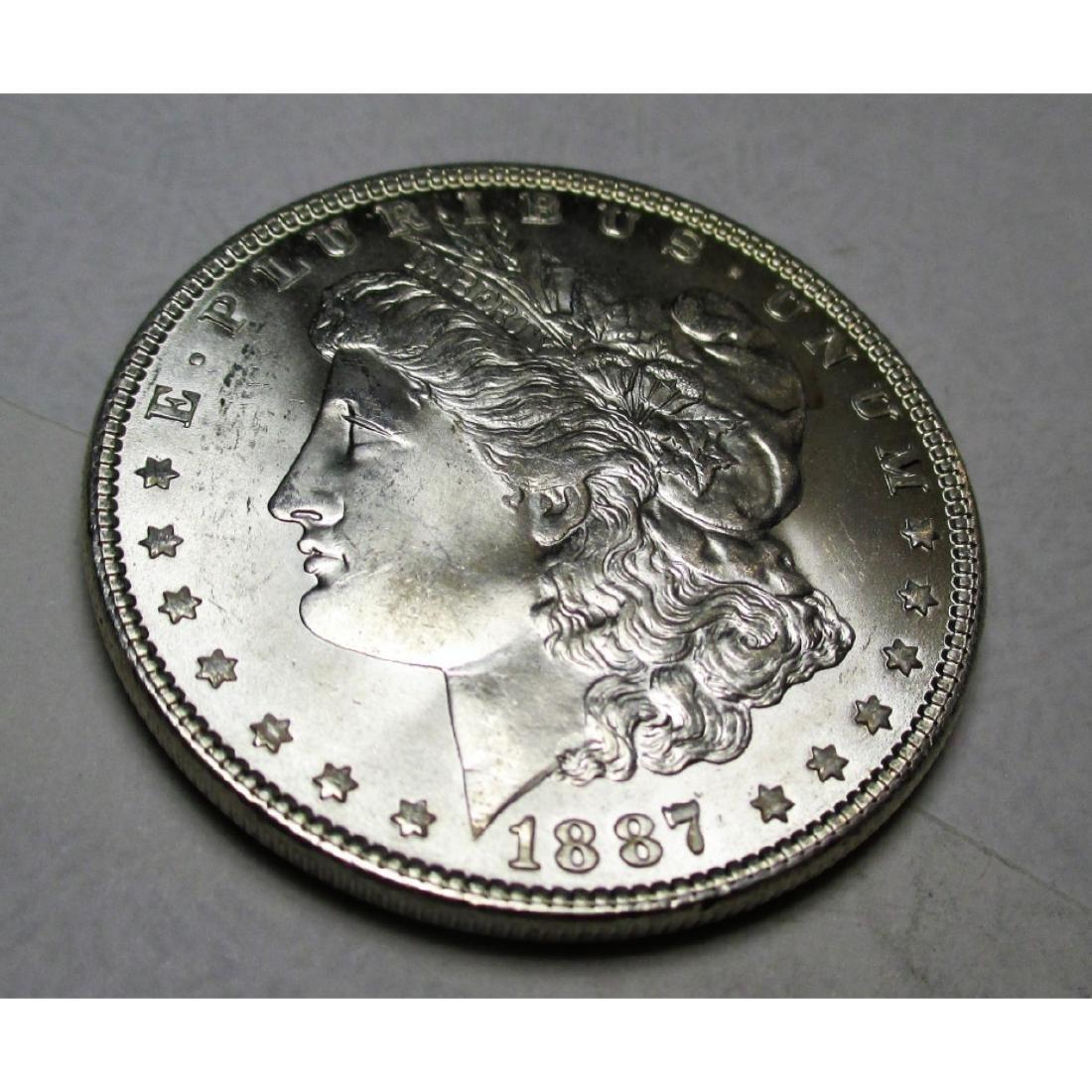 1887 P CH BU Morgan Silver Dollar