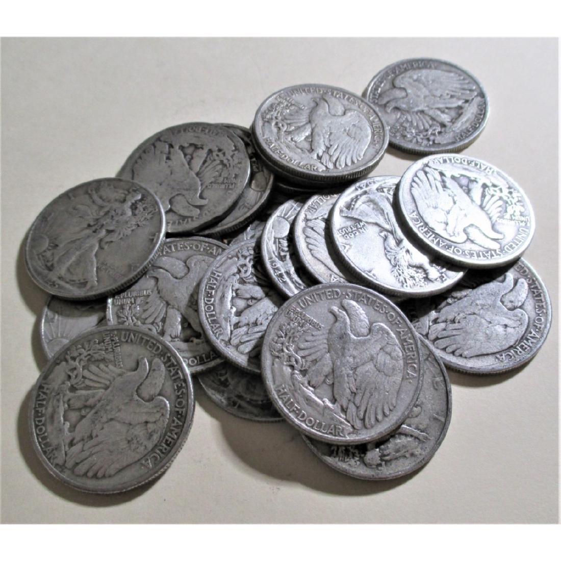 (20) Walking Liberty Half Dollars-90% Silver - 2