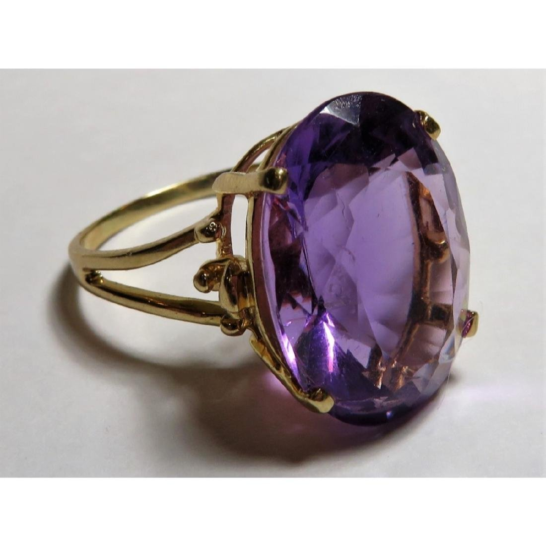 Extra Fine 17 ct. Amethyst  Designer Ring in 14k