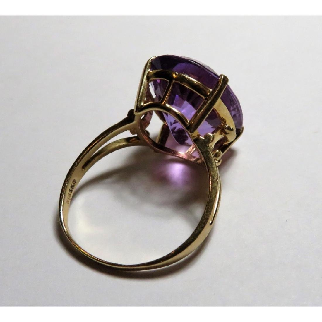 Extra Fine 17 ct. Amethyst  Designer Ring in 14k - 5