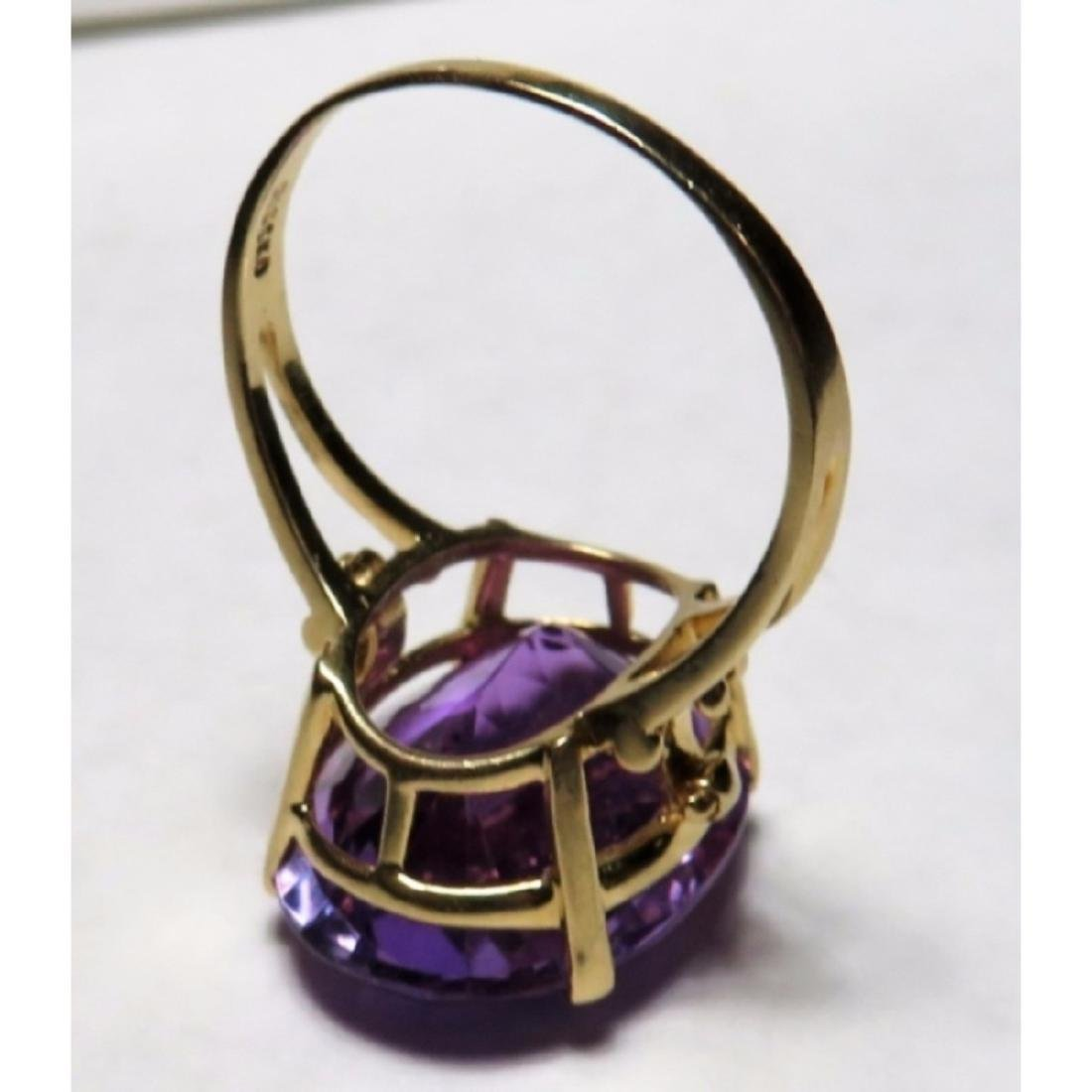 Extra Fine 17 ct. Amethyst  Designer Ring in 14k - 8