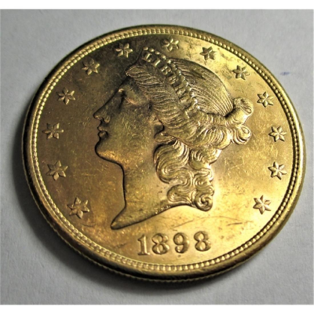 1898 S High Grade $20 Gold Liberty Double Eagle