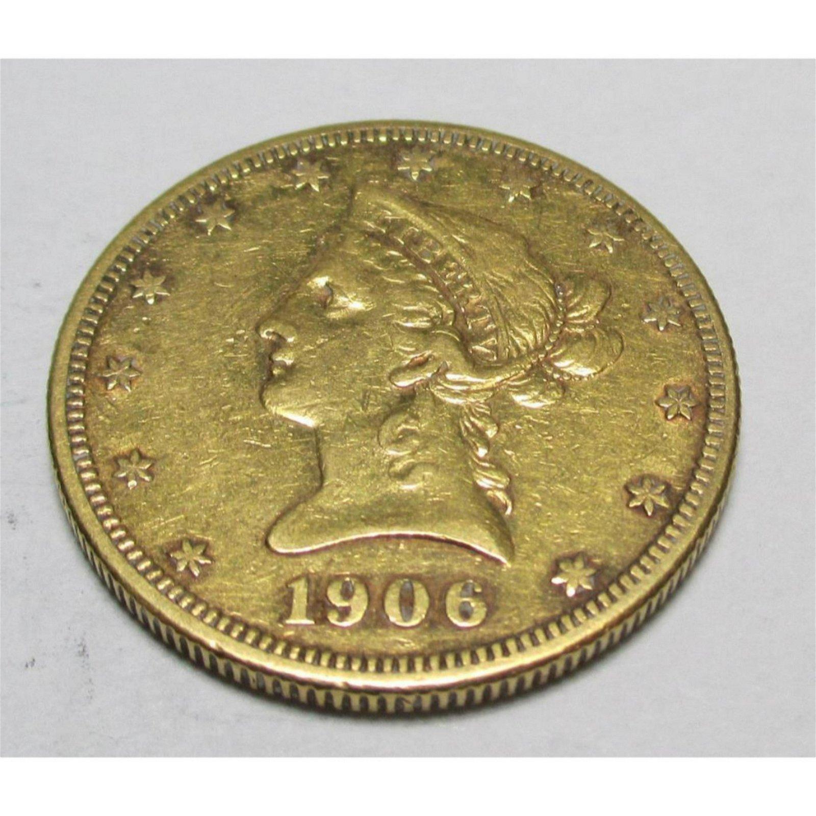 1906 S $ 10 Gold Liberty