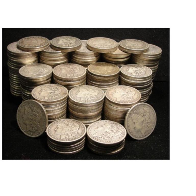 Lot of (220) Morgan Silver Dollars VG Fine Grade