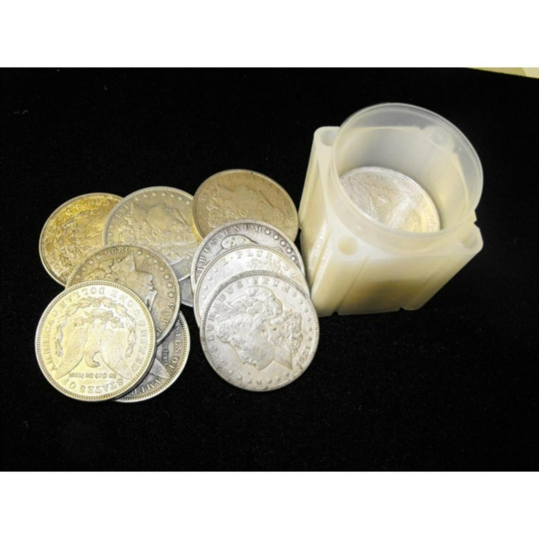(20) XF Plus Morgan Silver Dollars in Tube