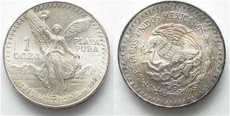 1985 1 oz Mexican Libertad Onza Silver Round