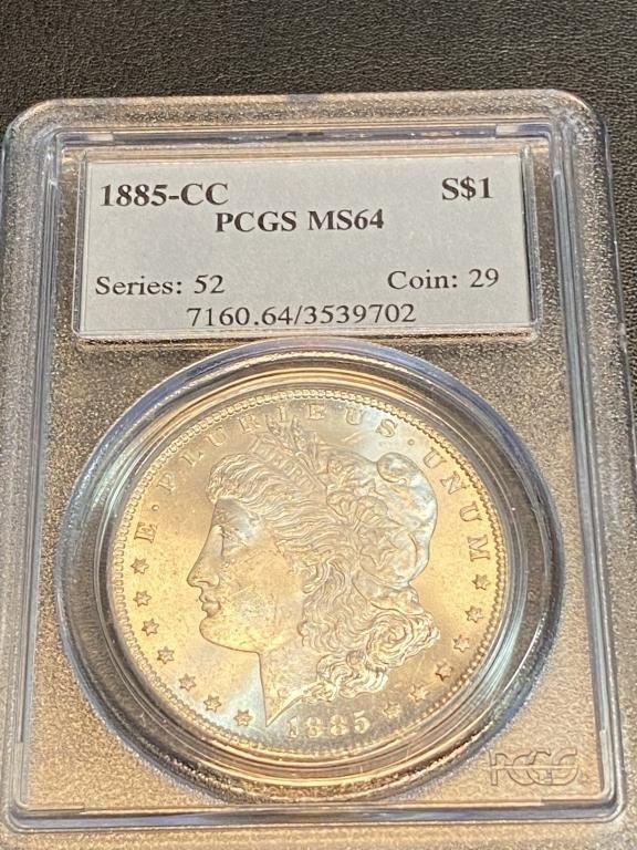 1885 CC MS 64 PCGS Morgan Silver Dollar