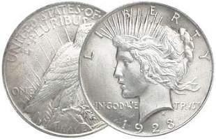 1923 P Bu Grade Peace Silver Dollar