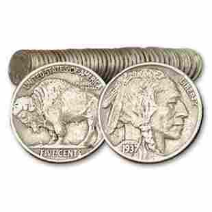 40 pcs. Full Date Buffalo Nickels