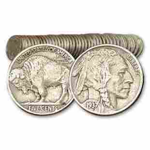 40 pcs. Full Date Buffalo Nickel