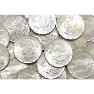 20 pcs. BU Grade 1922-3-4-5 - Peace Silver Dollars