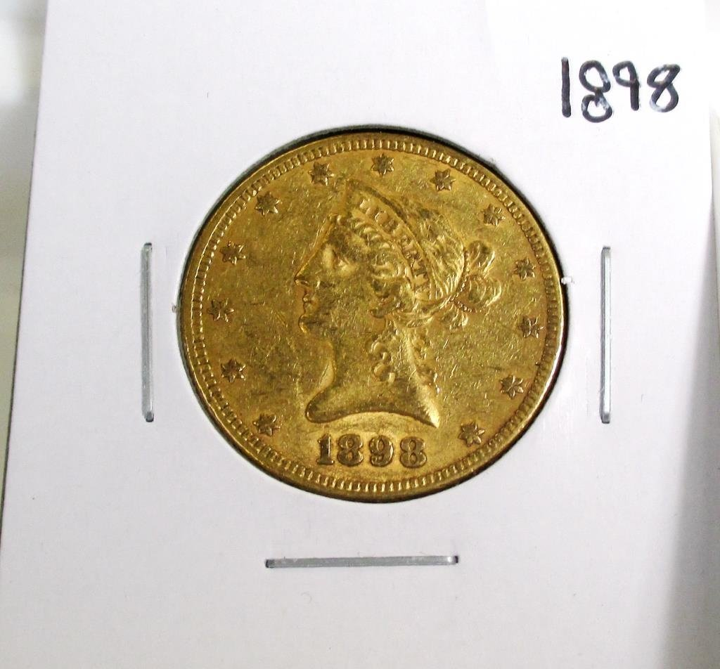 1898 $ 10 Gold Liberty Eagle XF Grade