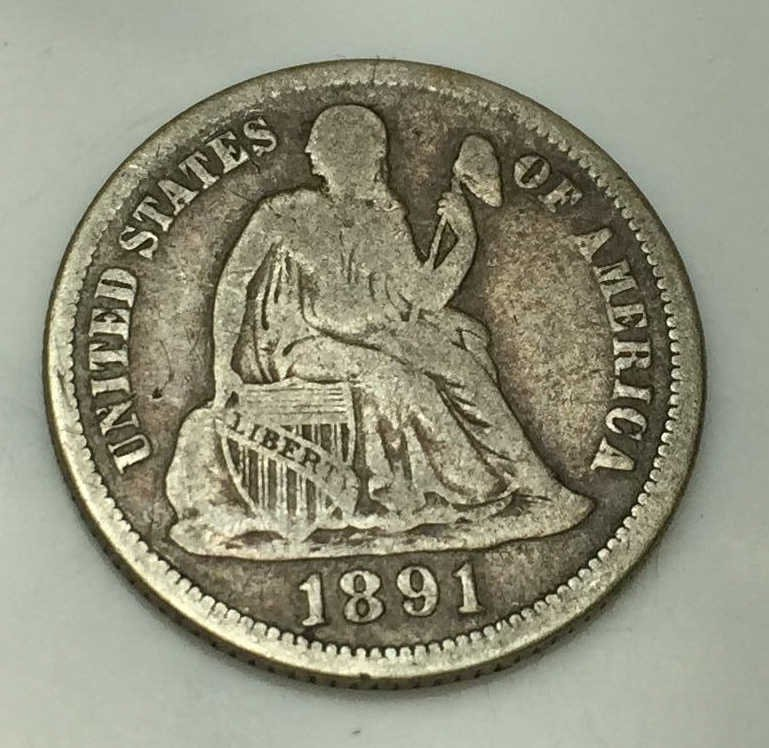 1891 O Seated Liberty Dime