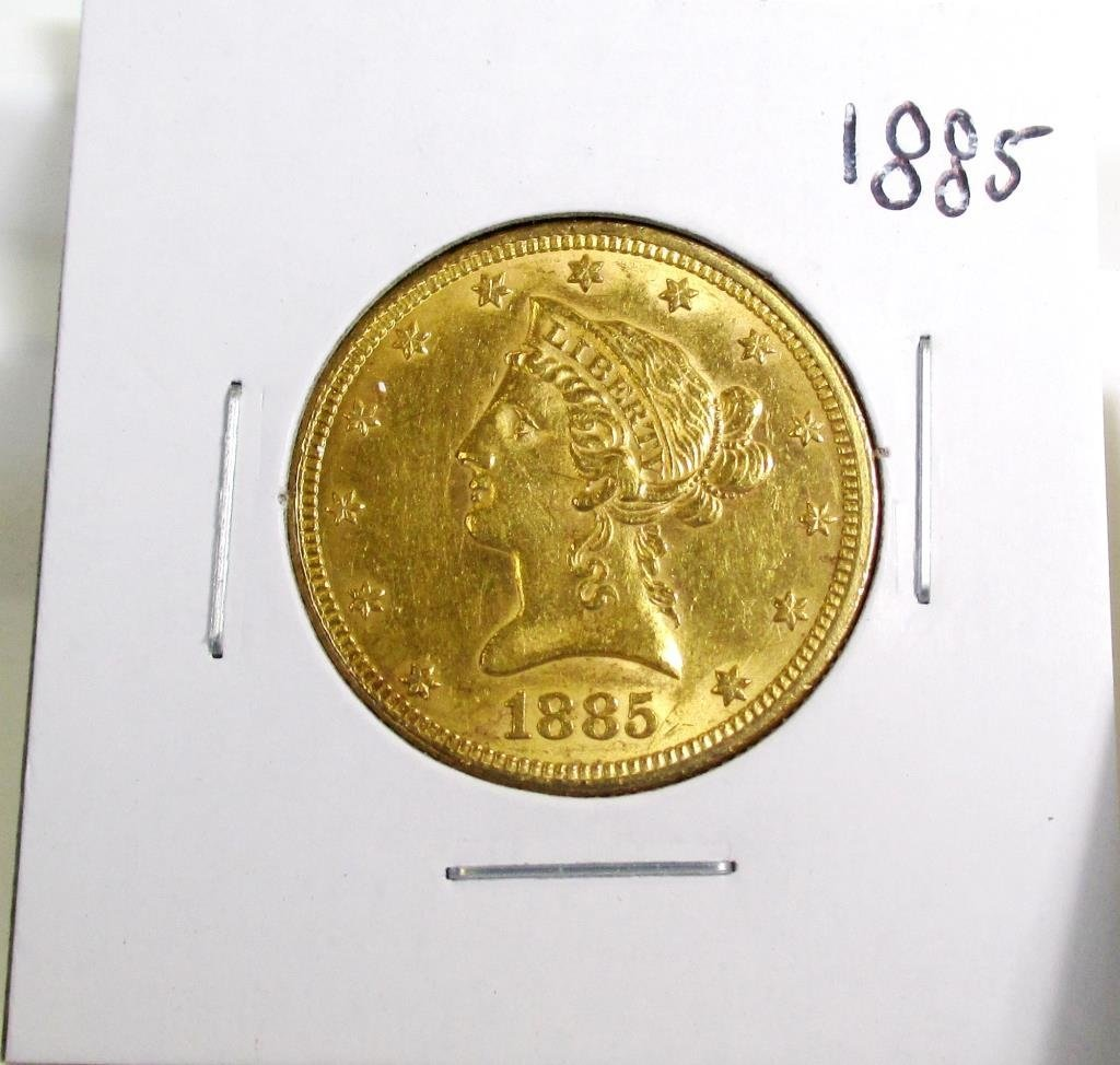 1885 $ 10 Gold Liberty Eagle