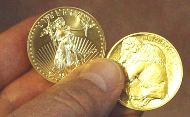 1 oz. US Gold Eagle- 1 oz. US Gold Buffalo -