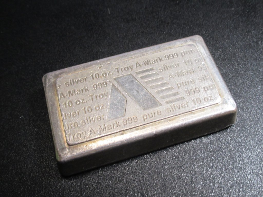 10 oz. Silver Bar- .999 Pure AMARK
