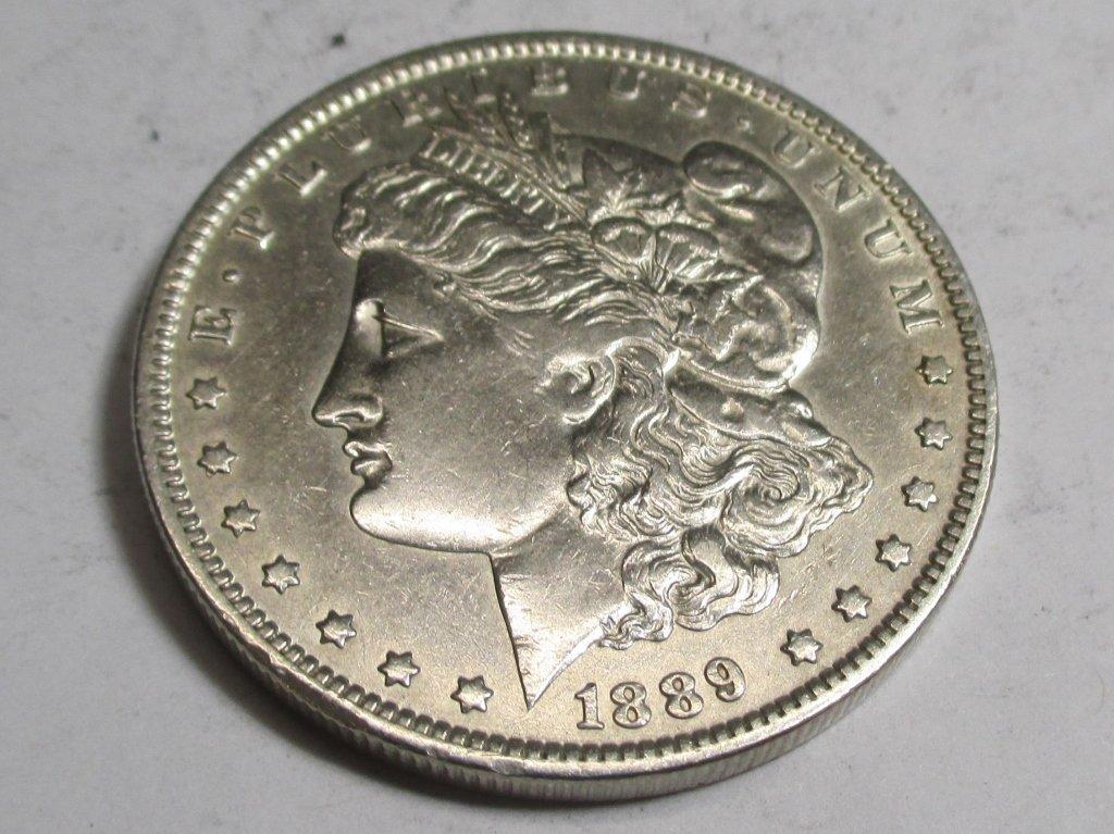1889 O AU Morgan Silver Dollar