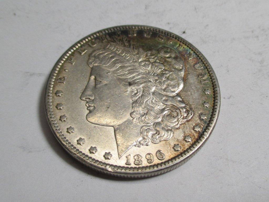 1896 P Toned  Morgan Dollar