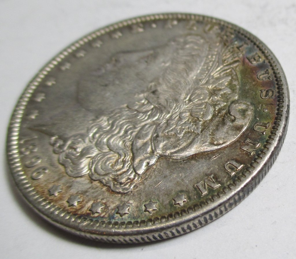 1896 P Toned  Morgan Dollar - 2