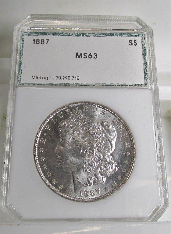 1887 CH BU Morgan Silver Dollar
