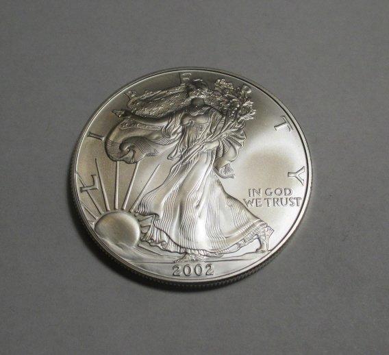 2002 US Silver Eagle - CH BU  Grade
