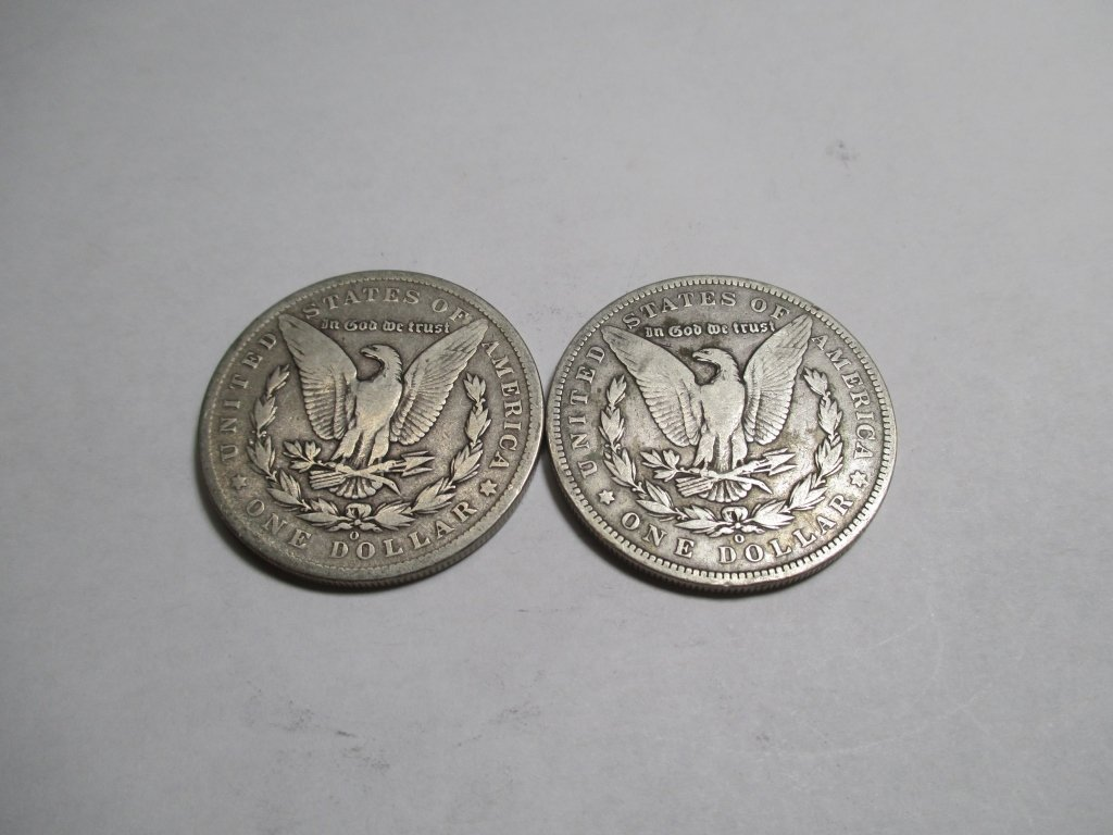 (2) Better Date 1886 O Morgan Silver Dollars - 2