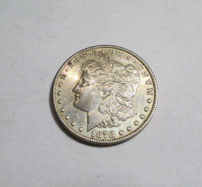 1878 S First Year Issue Morgan Dollar AU