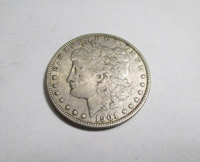 Better Date 1901 O AU Grade Morgan Dollar