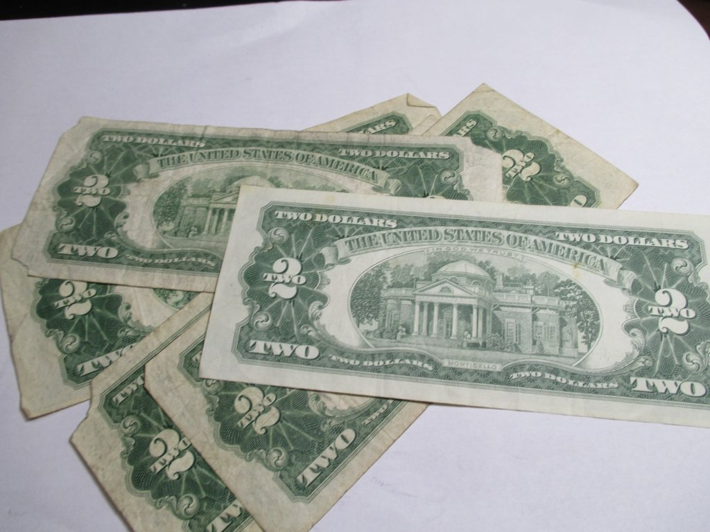 (5) 1953 Red Seal $ 2 United States Notes - 3