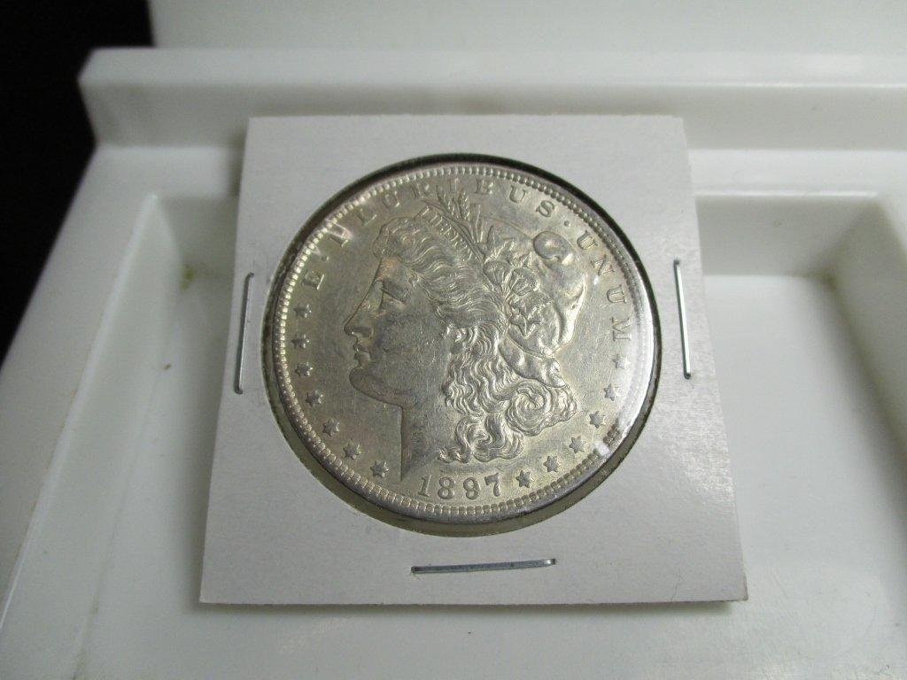 1897 P Better Grade Morgan Silver Dollar