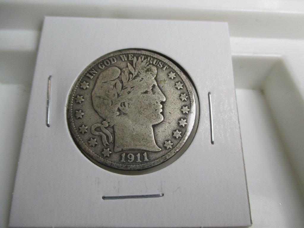 1911 S Barber Half Dollar