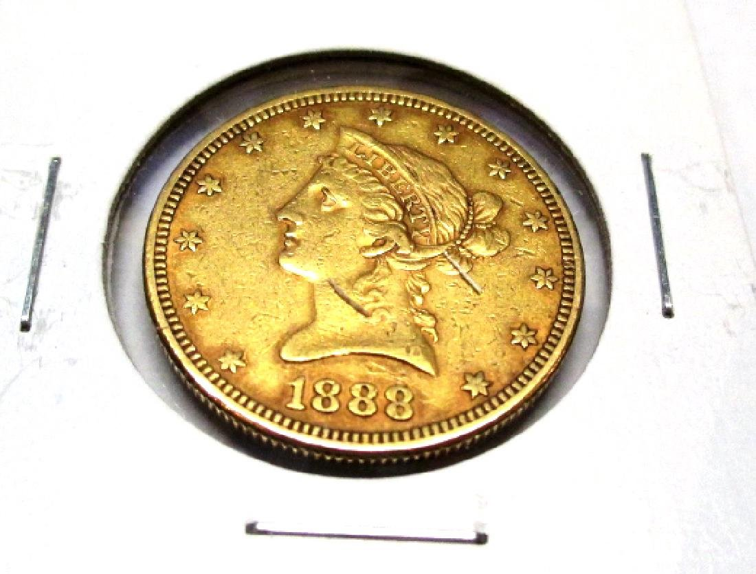 1888 P $ 10 Gold Liberty Eagle