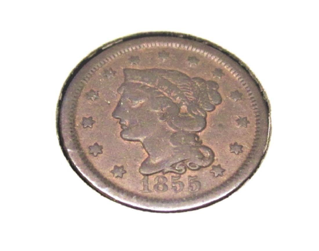 1855 Copper Large Cent -