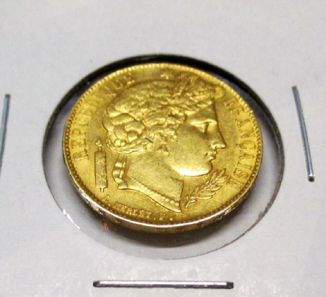 1851 A - 20 francs Ceres - Gold